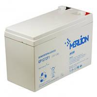 Аккумуляторная батарея MERLION AGM GP1272F1 12 V 7,2Ah  ( 151 x 65 x 100 ) White Q10