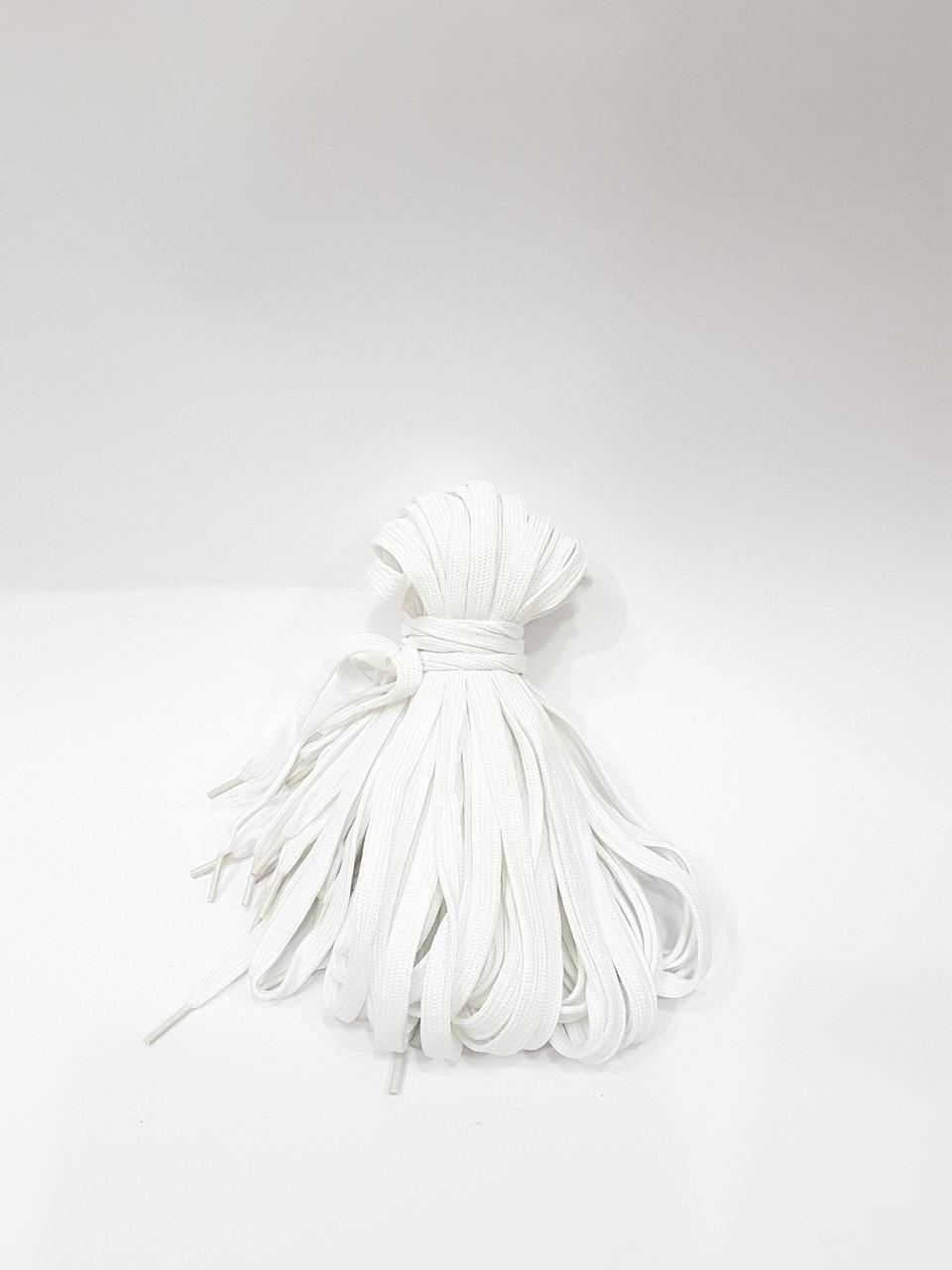 Шнурки для обуви плоские Белые 1 метр
