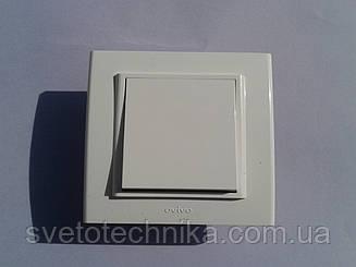 Выключатель одноклавишный OVIVO Mina  (белый)