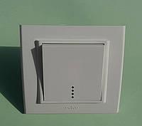 Выключатель одноклавишный OVIVO Mina с подсветкой скрытой установки (белый)