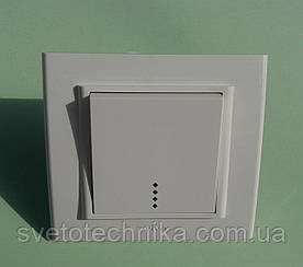 Выключатель одноклавишный OVIVO Mina с подсветкой  (белый)