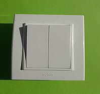 Выключатель двухклавишный OVIVO Mina и (белый)