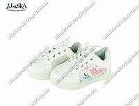 Детские кроссовки белые (Код: Дет цветок)