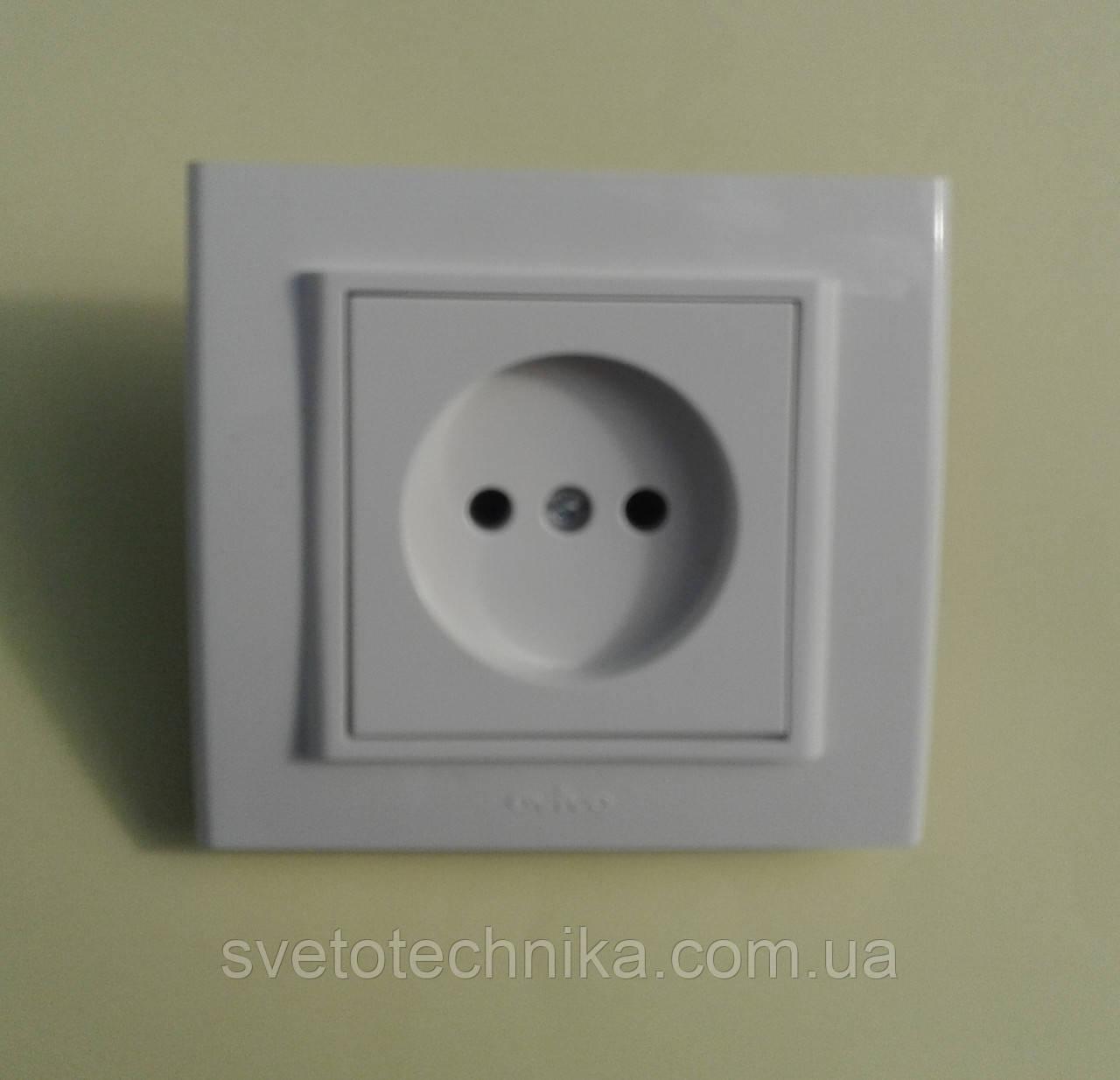 Розетка электрическая OVIVO Mina  одинарная без заземления (белый)