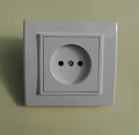 Розетка электрическая OVIVO Mina скрытой установки одинарная без заземления (белый)