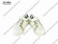 Детские кроссовки белые (Код: Дет звезда-черная)
