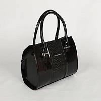 Женская сумка со вставкой из питона М62-лак/14/Z