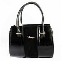 Женская классическая сумка М62-лак/замш/Z
