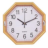 Часы настенные восьмигранник желтые ( 225 х 225 )