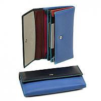 Женский кошелек из натур. кожи Rainbow WRS-1 blue
