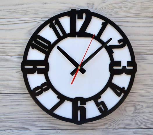 Часы настенные черно-белые Prague