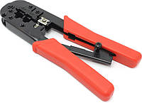 Инструмент обжимной НТ-568R для 6р4с, 8p8c разъёмов, с трещёткой