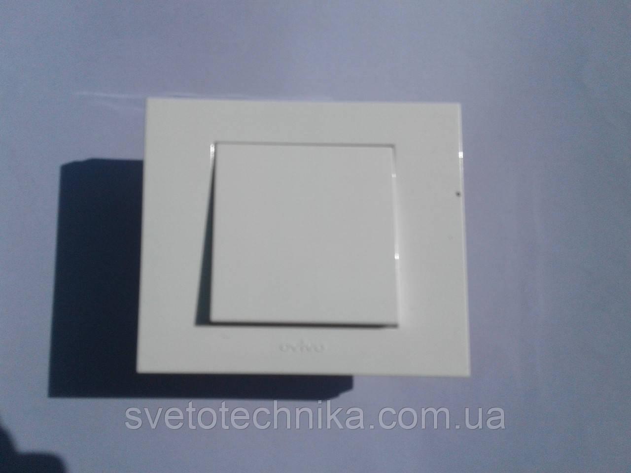 Выключатель одноклавишный OVIVO Grano  (белый)