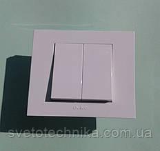 Выключатель двуклавишный OVIVO Grano  (белый)