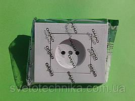 Розетка OVIVO Grano  одинарная без заземления (белый)