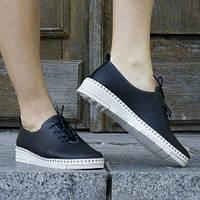 Туфли кожаные tr6070syah