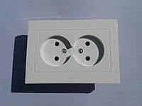 Розетка электрическая OVIVO Grano скрытой установки двойная без заземления (белый)