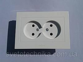 Розетка  OVIVO Grano  двойная без заземления (белый)
