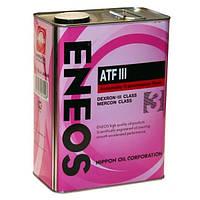 Масло трансмиссионное Eneos ATF Dexron-III 4лит