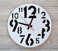 Часы настенные бело-черные New Delhi