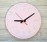 Часы настенные розовые Geneva