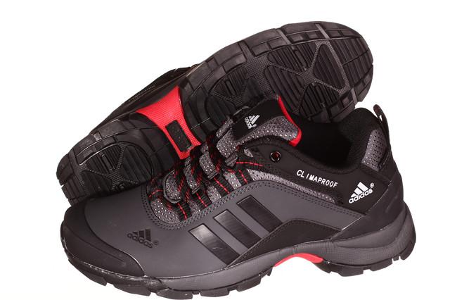 Кроссовки мужские Adidas Climaproof черные с красным