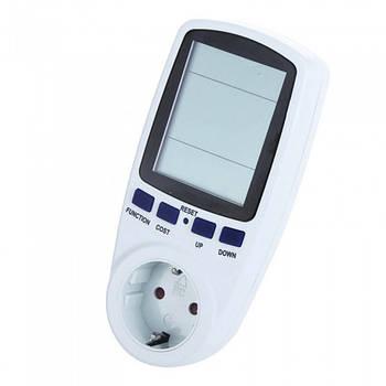 Цифровой ваттметр счётчик электроэнергии с евровилкой