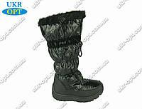 Женские сапоги черные (Код: ЖББ-49)