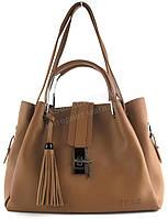 Оригинальная прочная модная качественная сумка матрешка с эко кожи CELINE art. 1712 рыжая