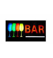 Вывеска светящаяся `BAR`. 45x25 см
