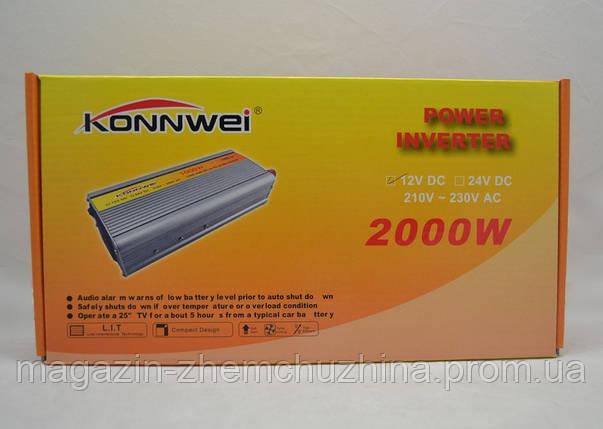 Преобразователь напряжения Konnwei 2000W 12DC, фото 2