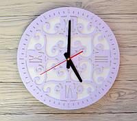 Часы настенные сиреневые Ajour