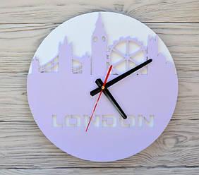 Часы настенные сиреневые London