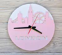 Часы настенные розовые London