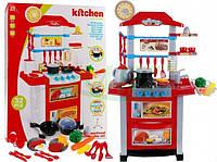Детская кухня з посудомоечной машиной + часы (красная) В НАЛИЧИИ