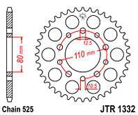 Звезда задняя JT Sprockets JTR1332,40, фото 1