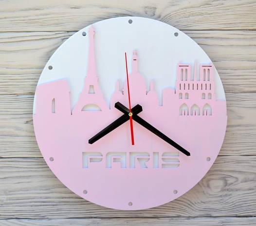 Часы настенные розовые Paris
