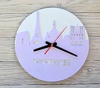 Часы настенные сиреневые Paris