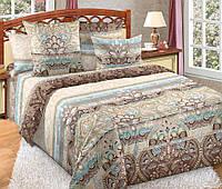 Двуспальное постельное белье с простыней на резинке 160/200/34 Мираж, перкаль 100%хлопок