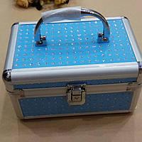 Шкатулка-сундук для украшений голубая