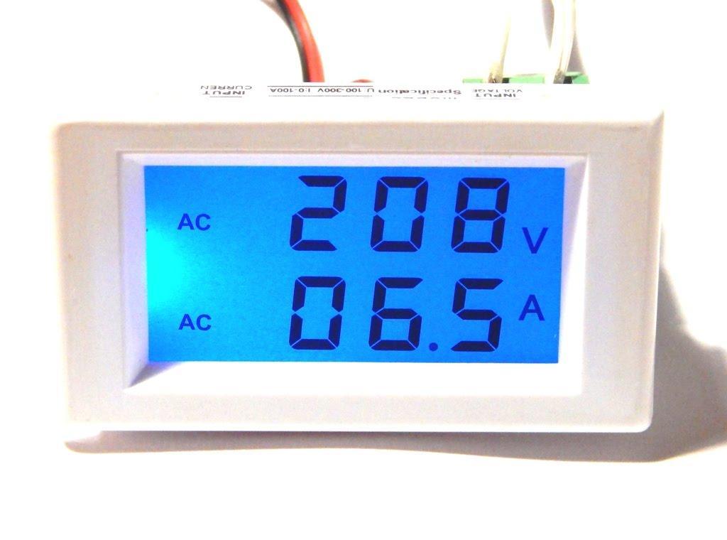 DDH-303L Цифровой Вольтметр + Амперметр для переменного тока 80-300В 100А