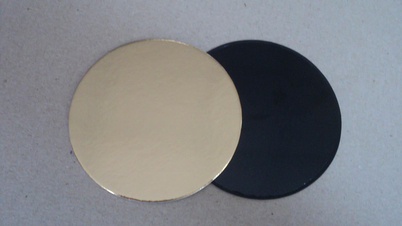 Подложка  круг золото/черное d9см. (код 03019)