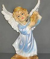 Ангел с фонариком 34 см. (цветной)