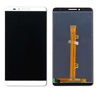 Дисплей Huawei Mate 7 Ascend хуавей с тачскрином в сборе, цвет белый