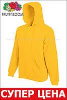 Мужская классическая толстовка с капюшоном Солнечно-жёлтая Fruit Of The Loom 62-208-34 L