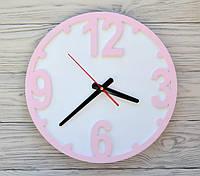 Часы настенные розовые Chicago