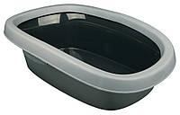 Туалет Trixie Carlo Litter Tray для кошек с рамкой, пластик, 31х14х43 см