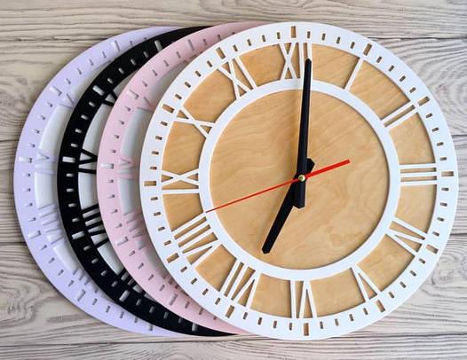 Часы настенные белые Rome