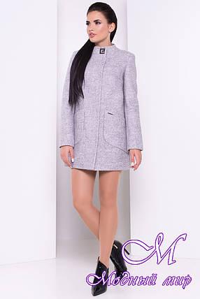 Женское серое осеннее пальто (р. S, M, L) арт. Мирта 1623 - 9328, фото 2