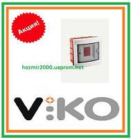 Бокс скрытой установки Viko на 4 автомата Щиток